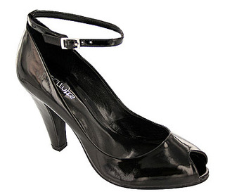 Ladies High Heel Peep Toe Shoe with Ankle Strap